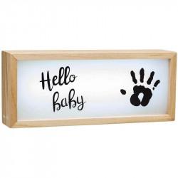 caja de luz con impresion de baby art