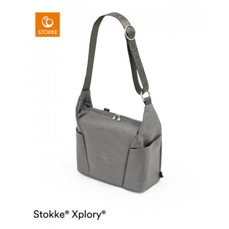 bolso cambiador para xplory x de stokke en el color modern grey