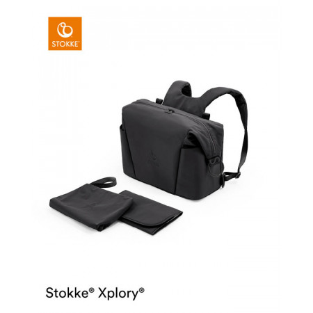 bolso cambiador para xplory x de stokke en el color rich black