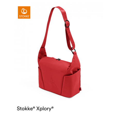 bolso cambiador para xplory x de stokke en el color ruby red