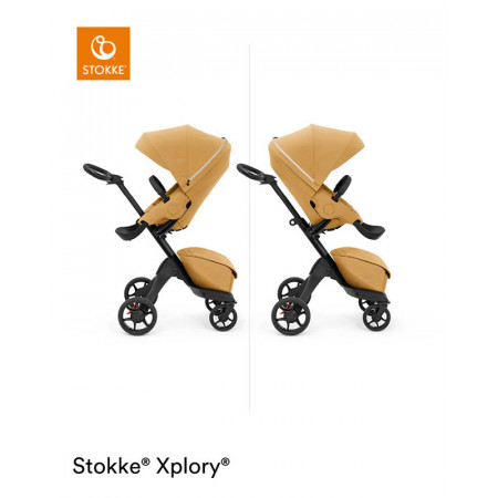 silla de paseo xplory x de stokke en el color golden yellow