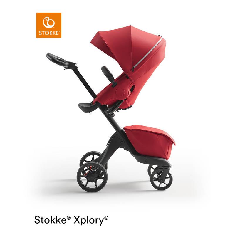 silla de paseo xplory x de stokke en el color ruby red