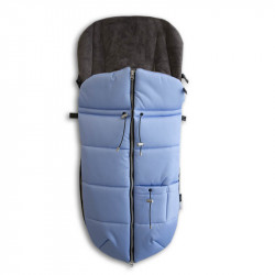 saco para silla de paseo con cremallera azul