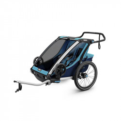 remolque chariot cross de thule doble en azul