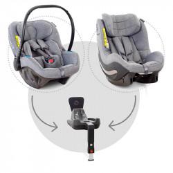 sistema modular con sillas de coche pixel y aerofix en el color grey melange