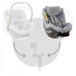silla de coche aerofix rwf de avionaut en el color grey melange