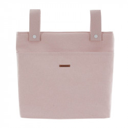 bolso talega TB lino de uzture en el color piedra rosa empolvado