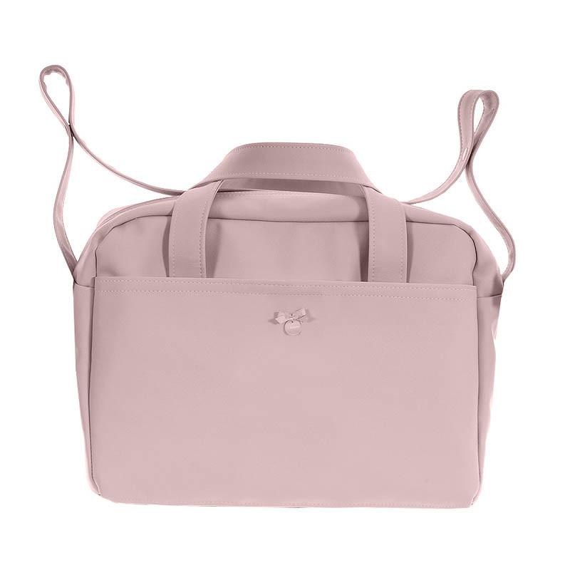 bolso de maternidad pol 2600 de uzturre en color rosa empolvado