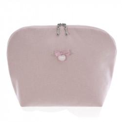 neceser do lino 2800 de uzturre en color rosa empolvado