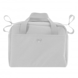 Bolso maternal uzturre Do lino gris