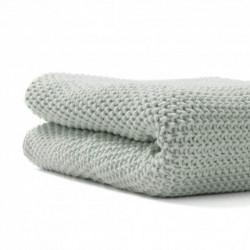 manta de tricot premium de bonjour bebe en color menta