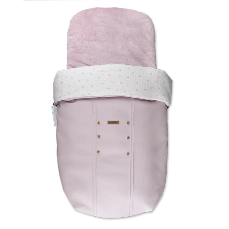 Saco para capazo Paola de uzturre en color rosa empolvado