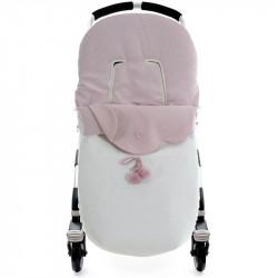 saco para silla de paseo con interior de rombo terese de uzturre en color rosa