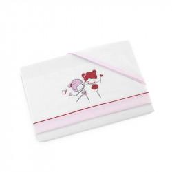 sabanas para cuna modelo 42 de d'peques en color rosa