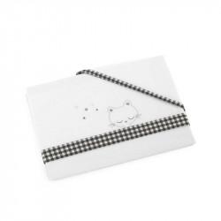 sábana para cuna modelo 43 de d'peques en color gris
