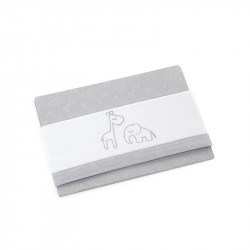 sabana para cuna modelo 78 de d peques en color gris