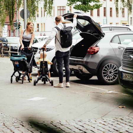 silla de coche convertible doona de simple parenting