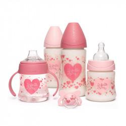 pack de biberones little star de suavinex en color rosa
