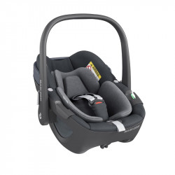 silla de coche pebble 360 de maxi cosi en el color essential graphite