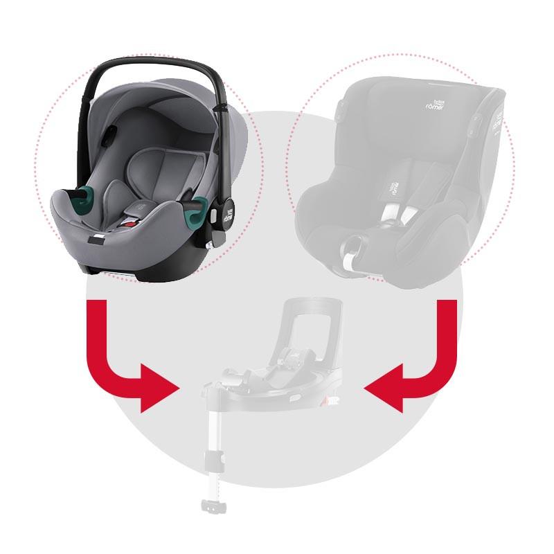 silla de coche baby-safe isense de britax romer en el color frost grey