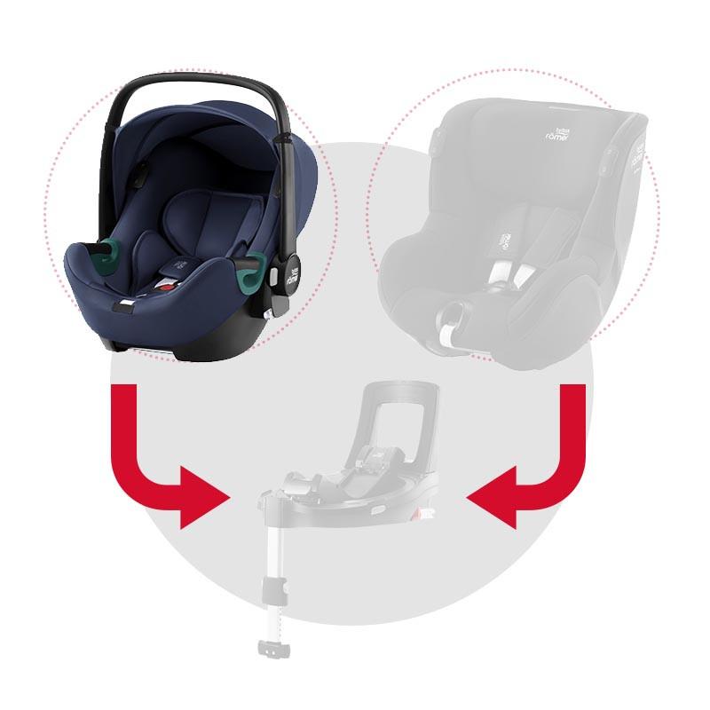 silla de coche baby-safe isense de britax romer en el color indigo blue