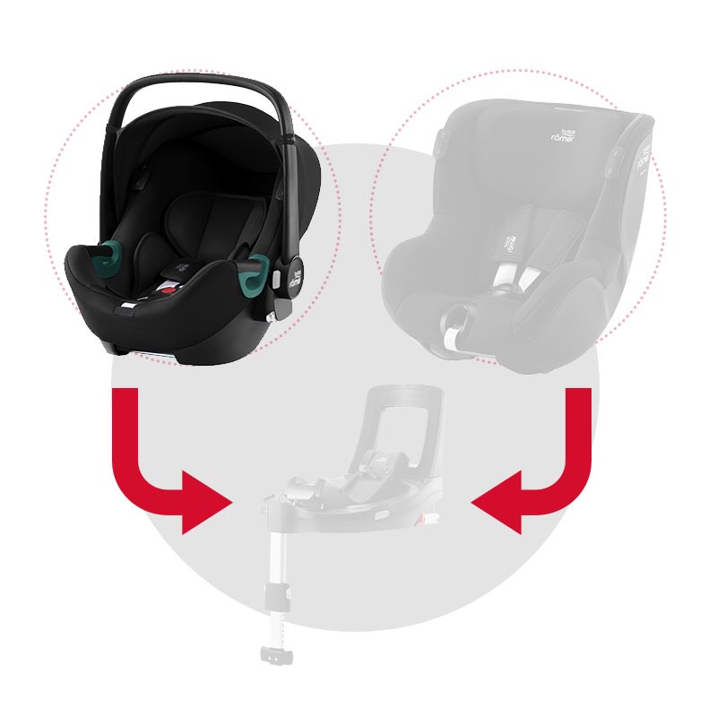 silla de coche baby-safe isense de britax romer en el color space black