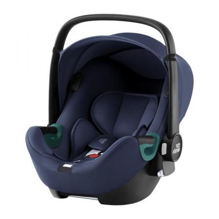 silla de coche baby-safe isense con base flex isense de britax romer en el color indigo blue
