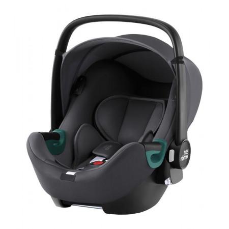 silla de coche baby-safe isense con base flex isense de britax romer en el color midnight grey