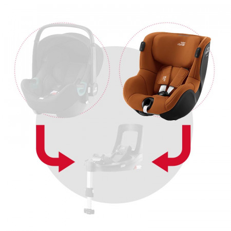 britax romer dualfix isense silla de coche en el color golden cognac