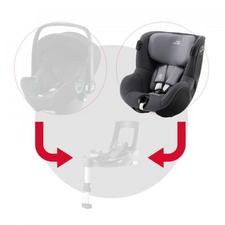 britax romer dualfix isense silla de coche en el color midnight grey