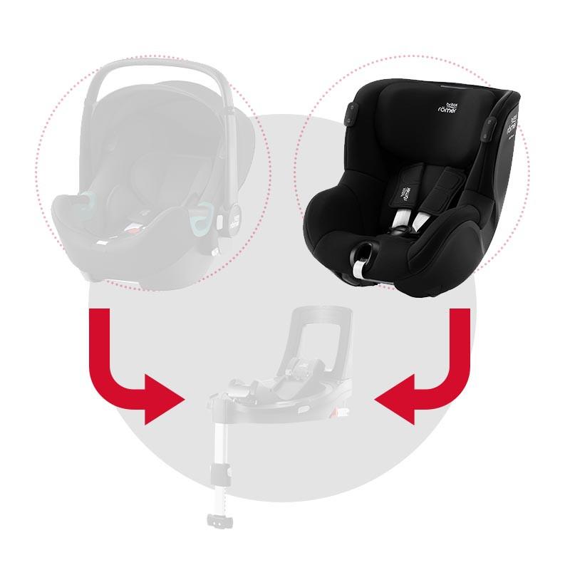 britax romer dualfix isense silla de coche en el color space black