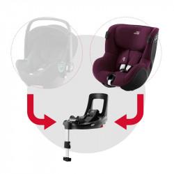 britax romer dualfix isense silla de coche y base flex isense en el color burgundy red