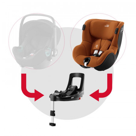britax romer dualfix isense silla de coche y base flex isense en el color golden cognac