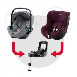 sistema modular isense con baby safe isense (frost grey) y dualfix isense (burgundy red)