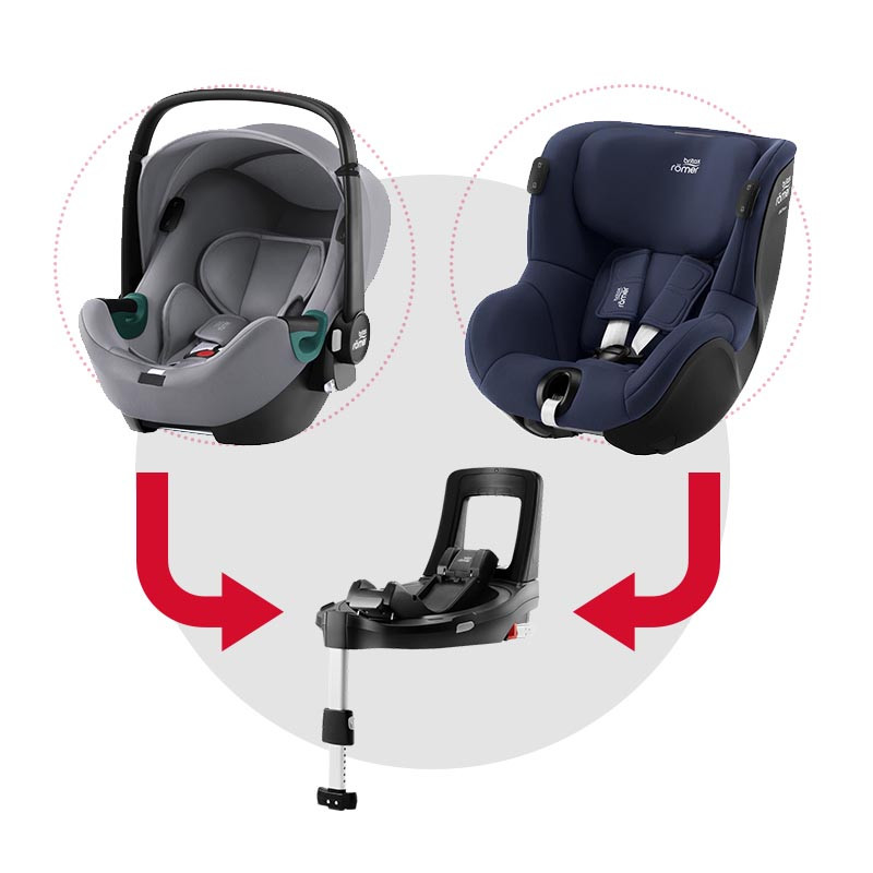 sistema modular isense con baby safe isense (frost grey) y dualfix isense (indigo blue)
