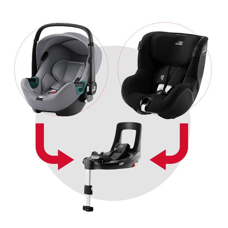 sistema modular isense con baby safe isense (frost grey) y dualfix isense (space black)