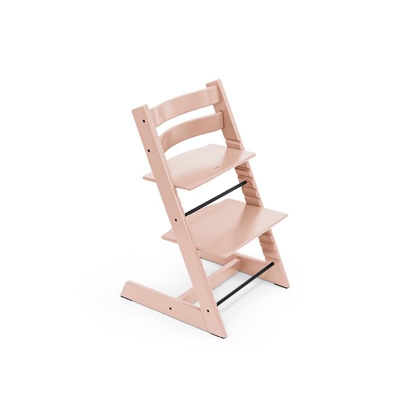 trona tripp trapp de stokke con baby set en el color serene pink