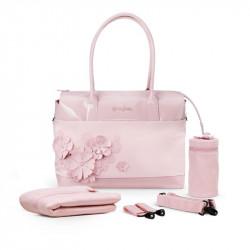 bolso cambiador de la colección simply flowers de cybex en el color pale blush