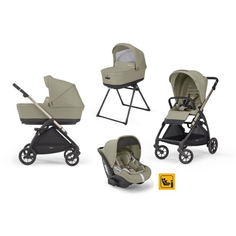 trio electa de inglesina con dawin silla de coche en el color nolita beige