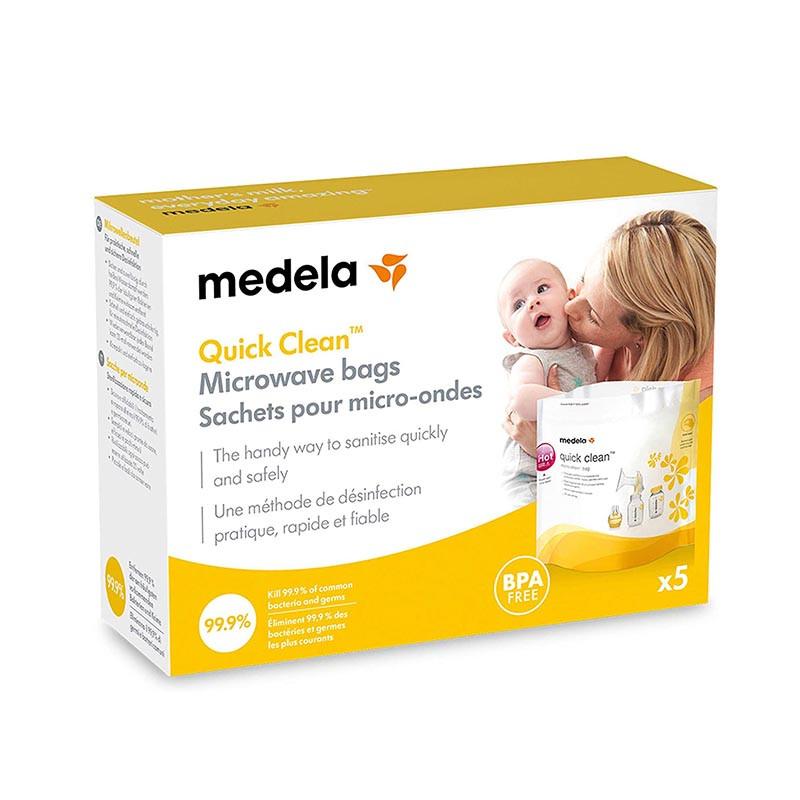 quick clean de medela bolsas para microondas
