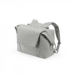 bolso cambiador de stokke en color gris