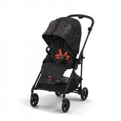 silla de paseo melio street de cybex en el color real black