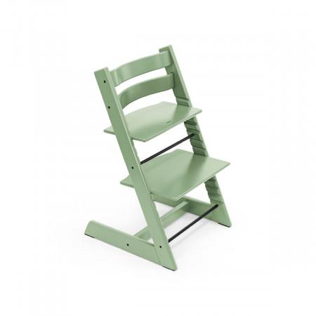 pack de trona tripp trapp de stokke con newborn set en color verde musgo