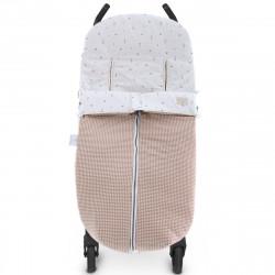 saco de invierno para silla de paseo fabian 5247 en color rosa empolvado