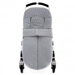 saco de verano para silla de paseo 5247 vichy de uzturre en gris