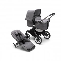 bugaboo fox 3 cochecito completo chasis graphite textil grey melange capota grey melange