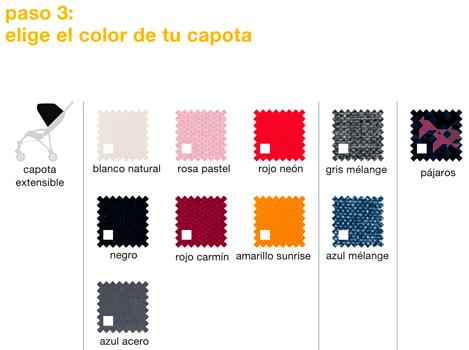 colores capotas silla paseo bugaboo bee 5