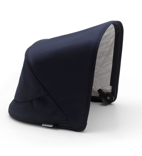 capota azul marino de la classic colection de bugaboo con acolchado en el interior