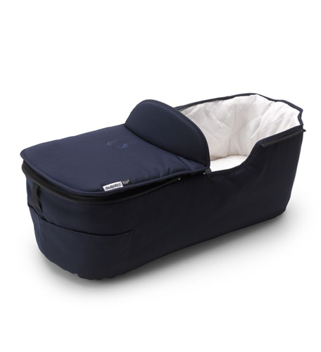 capazo azul manrino calsico para el bugaboo fox 2 classic collection