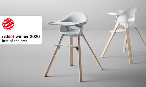 Trona stokke galardonada con el premio red dot 2020